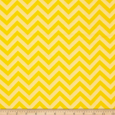 Flannel Chevron Yellow Fabric