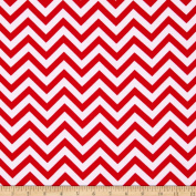 Flannel Chevron Red/White Fabric