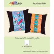 Fabric Editions Design Sheet/Project Card-Long Road Batik Pillow & Slide