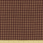 Textile Creations 923 Rustic Woven Fabric, Small Plaid Wine And SAnd, 15 yd.
