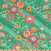 Amy Butler Lark Glamour Heirloom Jade Green Fabric