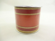 2.7m Shiny Fabric red centre with gold trims Ribbon (PM55C) [Toy]
