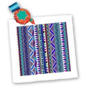 EvaDane - Patterns - Tribal Print, Pattern Purple, Blue, - Quilt Squares