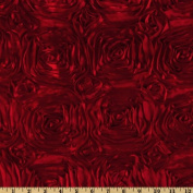 Splenda Satin Ribbon Rosette Red Home Decor Fabric