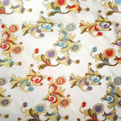 G107- 0,6 yard (0.5m) - Fabric brocade woven fine embroidery - Patchwork fabric Quilting Sewing Fabric Crafts