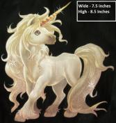 Unicorn Fairy Angel Flock Ofset Glitter Transfer Iron-On Fabric Transfer