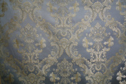 Montecarro Collection,colour Sky 100 Jacquard Floral, Fabric By the Yard