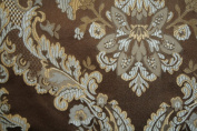 Montecarro Collection,colour Blue/chocolate 100 Jacquard Floral, Fabric By the Yard