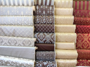 Montecarro Collection, Colour Sand 200 Jacquard Floral, Fabric By the Yard