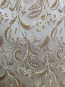Montecarro Collection, Colour Dawn 600 Jacquard Floral, Fabric By the Yard