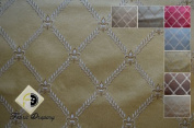 Montecarro Collection, Colour Gold 800, Jacquard Diamont, Fabric By the Yard