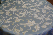 Montecarro Collection, Colour Sky 400 Jacquard Floral, Fabric By the Yard