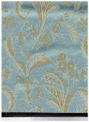 Montecarro Collection, Colour Sky 600 Jacquard Floral, Fabric By the Yard