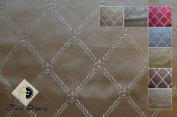Montecarro Collection, Colour Sand 800, Jacquard Diamont, Fabric By the Yard
