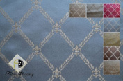 Montecarro Collection, Colour Sky 800, Jacquard Diamont, Fabric By the Yard