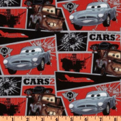 110cm Wide Cars Matter Mission Block Multi Fabric By The Yard
