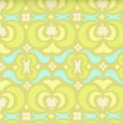 Amy Butler Midwest Modern Garden Maze 110cm - 110cm Lime Fabric