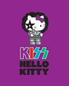 Hello Kitty Fleece Fabric:Musician Purple KISS by Sanrio