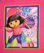 110cm Wide DORA THE EXPLORER Friends Cotton Fabric Panel