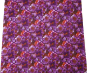 Purple Cotton Poplin Fabric Floral Batik Print Crafting Drape Pillow By the Yard