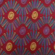 Abstract Pattern Fabric Cotton Poplin Burgundy Crafting Apparel By the Yard