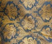 Rosarita Black Damask Chenille 100% Polyester 140cm Wide Per Yard