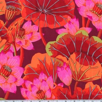 Kaffe Fassett Lake Blossoms Red Fabric