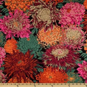 Kaffe Fassett Collective 2010 Drama Japanese Chyrsanthemum Red Fabric