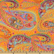 Kaffe Fassett Paisley Jungle Tangerine Fabric