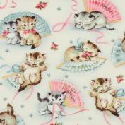 Michael Miller vintage fabric kitty Smitten Kittens