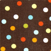 brown Robert Kaufman fabric with colourful dots