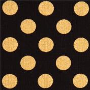 black Robert Kaufman polka dot fabric Spot On Jet