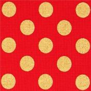 red Robert Kaufman polka dot fabric Spot On Scarlet