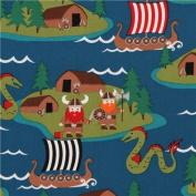 dark blue maritime Michael Miller viking fabric