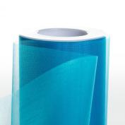 Koyal Wholesale 25-Yard Sheer Organza Fabric Roll, 15cm , Aqua
