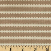 Inkwell Horizontal Stripes Khaki/Ivory Fabric By The YD