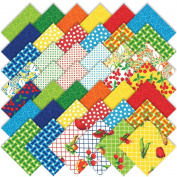 "Moda Eat Your Fruits & Veggies Charm Pack 42 5"" (12.7cm) Quilt Squares 43000PP"