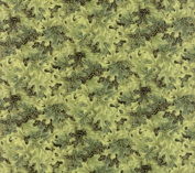 Hoffman 'Autumn Serenade' Sage and Gold Leaves Allover on Cotton Fabric By the Yard