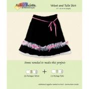 Fabric Editions Design Sheet/Project Card-Velvet/Tulle Skirt
