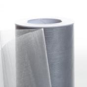 Koyal Wholesale 25-Yard Sheer Organza Fabric Roll, 15cm , Silver Grey