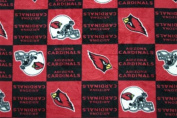 NFL Arizona Cardinals Football Print Fleece Fabric By the Yard