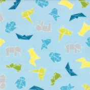 Cotton Mixed Bag Japanese Origami Sky Cotton Fabric Print by the Yard