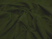 Olive Stretch Cotton Velvet Fabric 150cm By the Yard