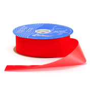 Berwick Veltex Flocked Poly Craft Ribbon, 5.1cm Wide by 25-Yard Spool, Red