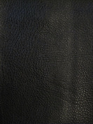 Calf/Laredo Faux/Fake Leather Vinyl Upholstery Fabric -Black- 140cm Sold BTY
