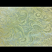 Ivory/gold Paisley Metallic Brocade 110cm By the Yard
