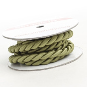 Spool of 1cm Wide Decorative Retro Twist Cord Ribbon in Sage Green -4 Spools 6 Feet Long