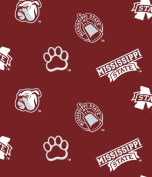 *NEW* Mississippi State University -100% Polyester Fleece, 150cm Wide