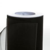 Koyal Wholesale 25-Yard Sheer Organza Fabric Roll, 15cm , Black