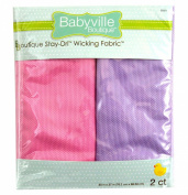 Babyville Wicking Fabric 80cm x 70cm Cuts 2/Pkg-Sweet Assortment- Pink & Lavender